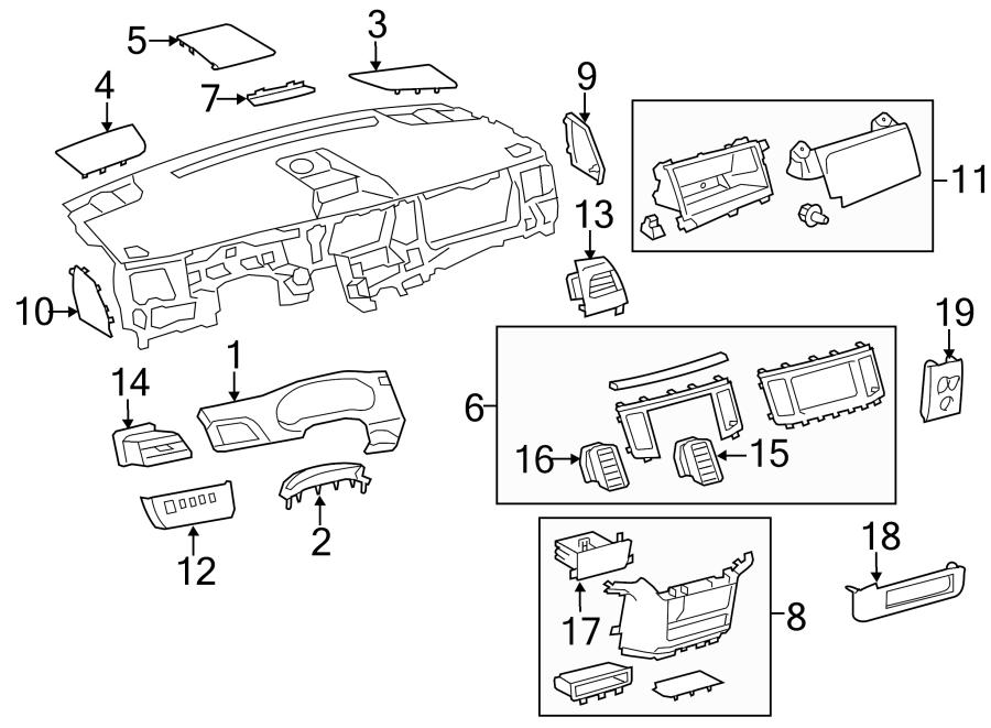2013-2014 Toyota Sienna Instrument Gauge Cluster Trim Tan