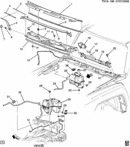 2005 Hummer H2 Wiper Arm Diagram. Catalog. Auto Parts