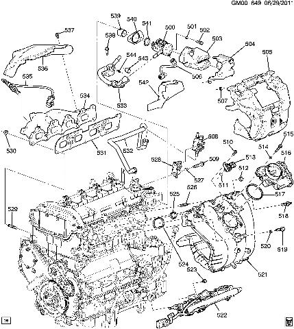 2011 Gmc Terrain Engine Parts Diagram 2011 GMC Terrain