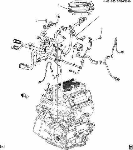 2011 Buick Lucerne Complete Engine Wiring Harness 3.9L V6
