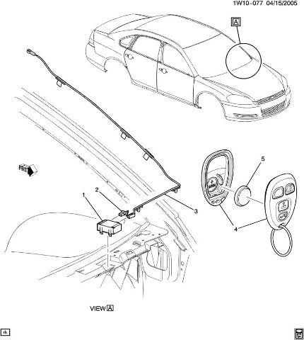 2006-2014 Lucerne Impala Monte Carlo DTS Key FOB New 4