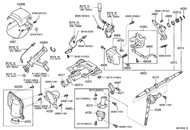 2000-2004 Toyota Tundra Upper Steering Column Trim