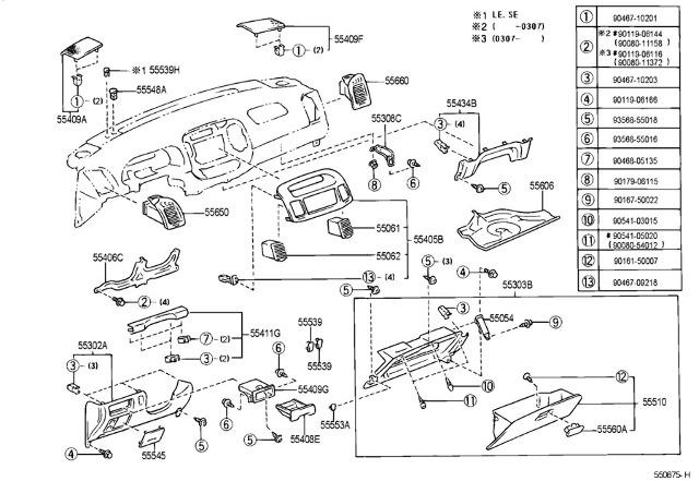 2002-2006 Toyota Camry Left LH Dash Lower Trim Panel
