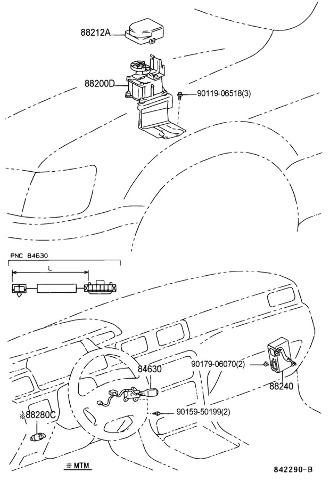 1998-2001 Toyota Camry JDM Version Cruise Control Stalk
