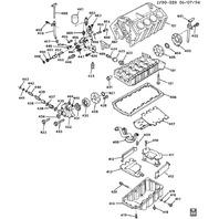 1993-1995 Chevy Corvette C4 ZR1 Oil Pump Suction Pipe