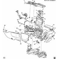 2010-2014 Equinox Terrain Center Console Wiring Harness