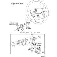 Toyota LH Audio Control Switches Sandalwood New OEM Camry