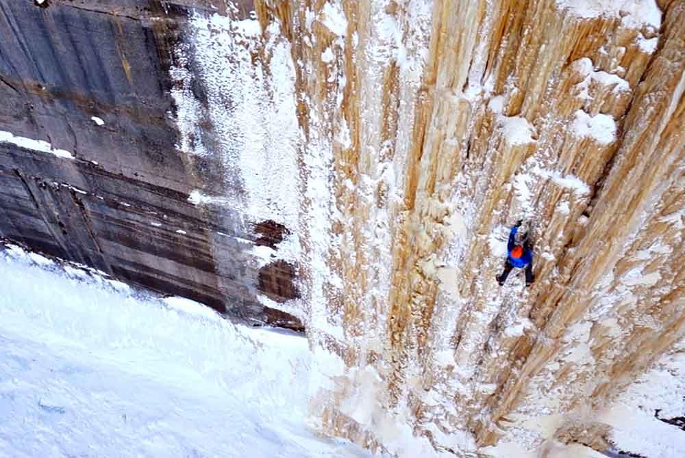 Frozen Falls Crashing Waves Michigan Ice Film Reveals