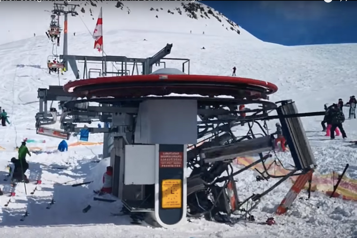 ski chair lift molded plastic terrifying chairlift malfunction caught on video gearjunkie