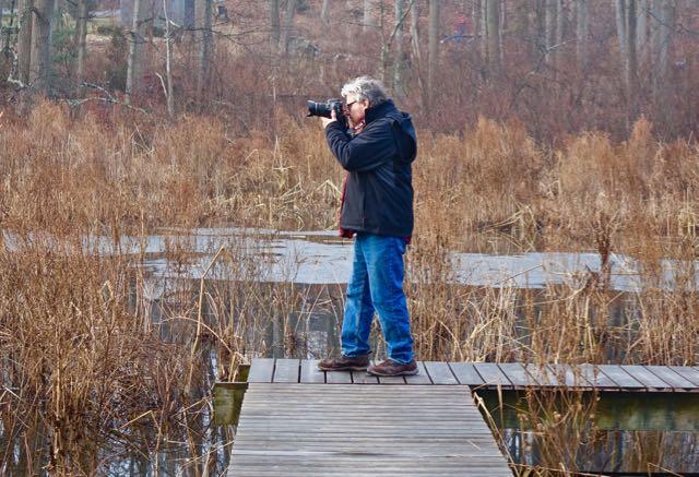 Photographer Chris Burke At Garden Of Ideas In Ridgefield On April 1