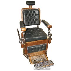 Antique Wood Barber Chair Lounge Pool Chairs Advertising Store Collectibles Price Guide Antiques