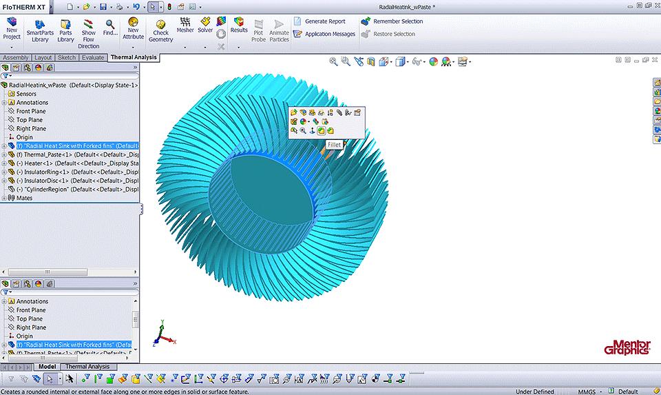 integrazione di parti meccaniche in un sistema di simulazione termica tramite le SmartParts