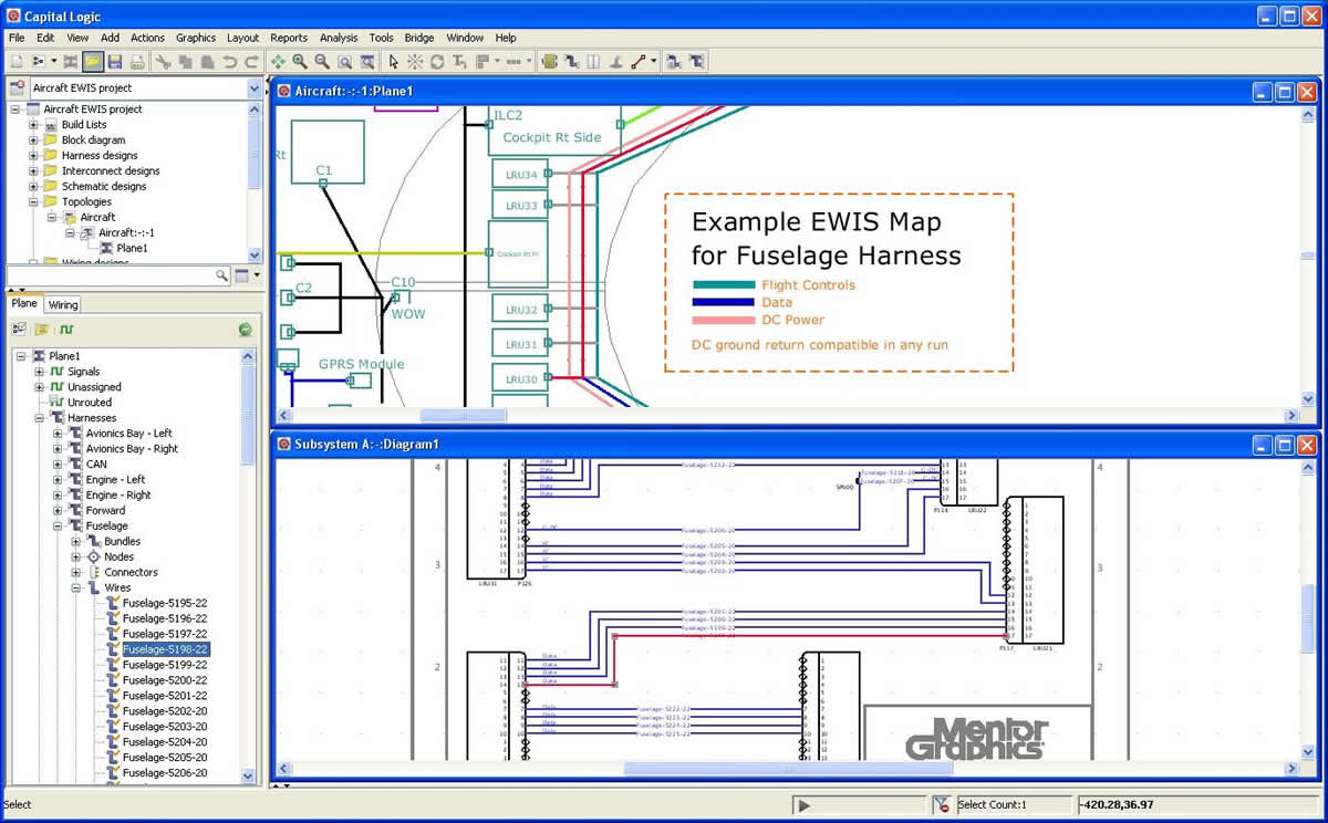 hight resolution of electrical systems design and harness engineering for aerospace wire harness toplogy