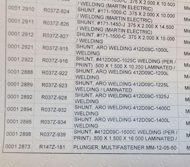 Aro 412D09C-1225L Welding Shunt Welder Flex Cable