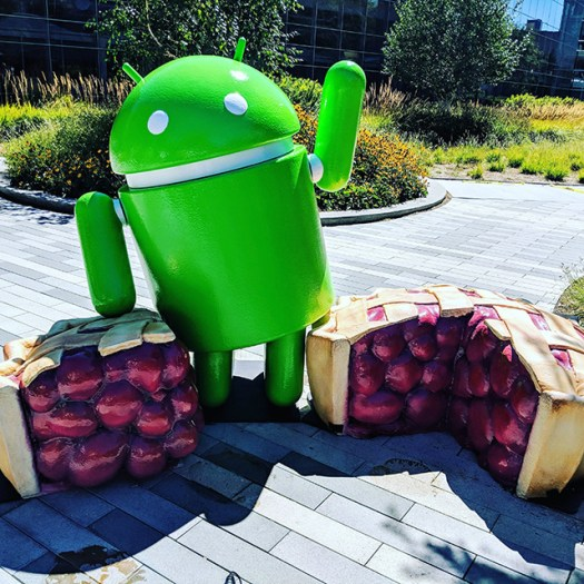 Android Pie Statue At The GooglePlex