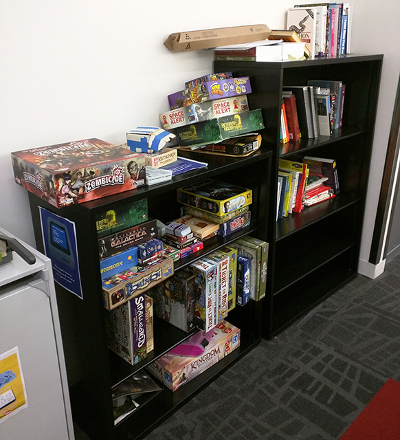 Google's Bookshelves Filled With Board Games