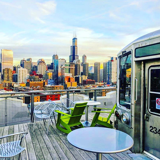 Google Chicago Rooftop View With Subway Car