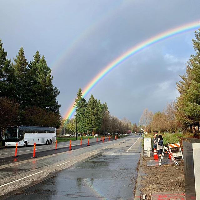 Double Rainbows At Google