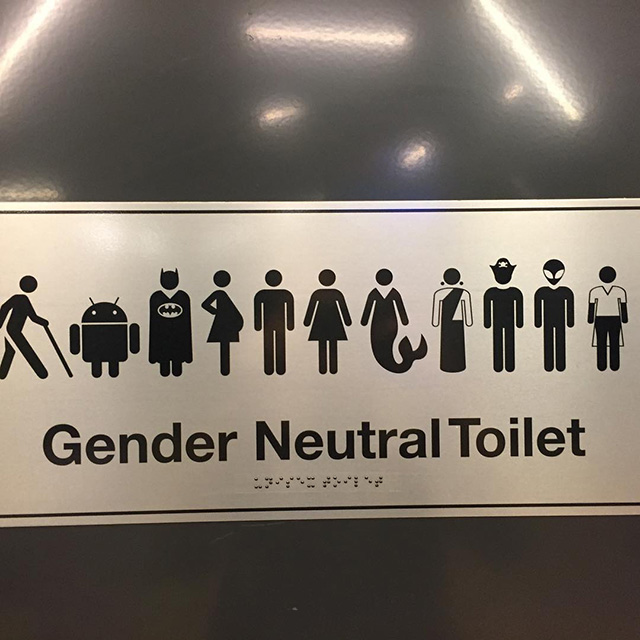 Googles Gender Neutral Bathroom Sign Has Batman Jedi Pirate  Aliens Allowed