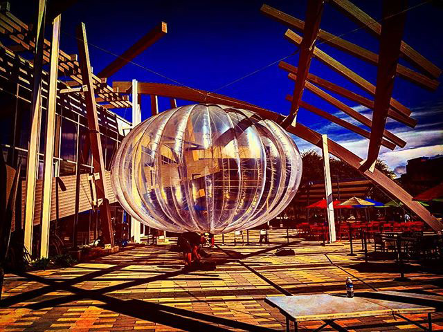 Google Internet Balloon (Loon) At The GooglePlex