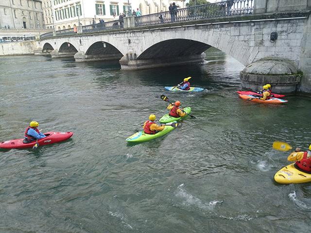 Google Interns Canoeing In Zurich