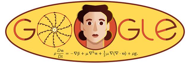 Olga Ladyzhenskaya Google Logo
