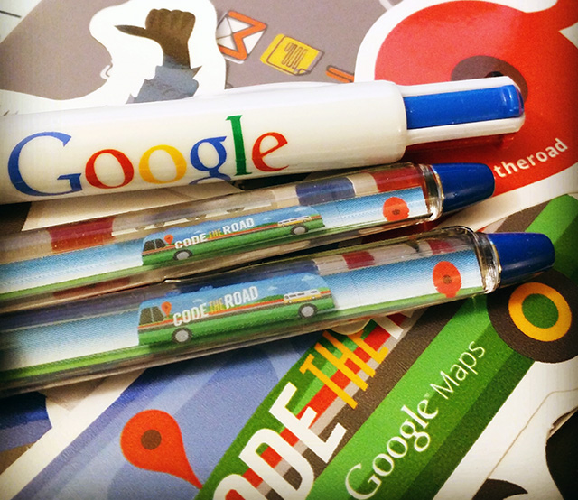 Google Bus Pen & Four Colored Ink Pen