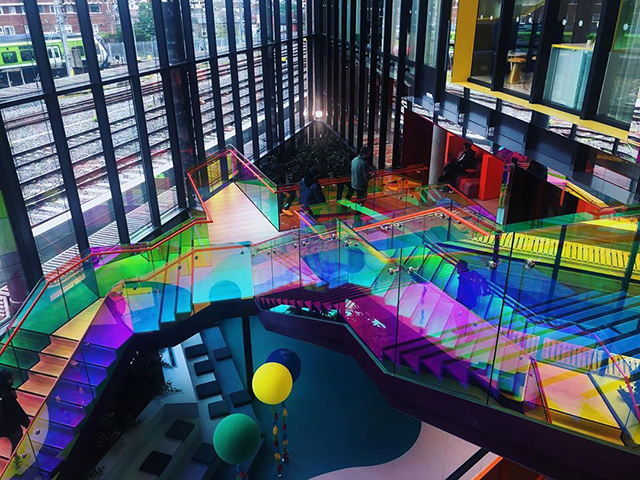 The Google Rainbow Staircases