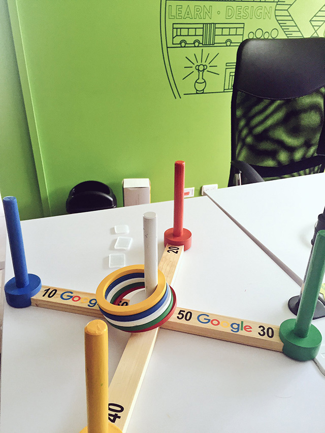 Google Ring Toss Toy