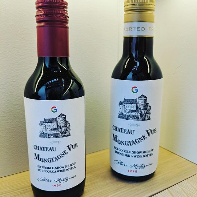 Google Wine Bottle With Screw Top