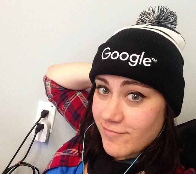Black & White Google Winter Hat