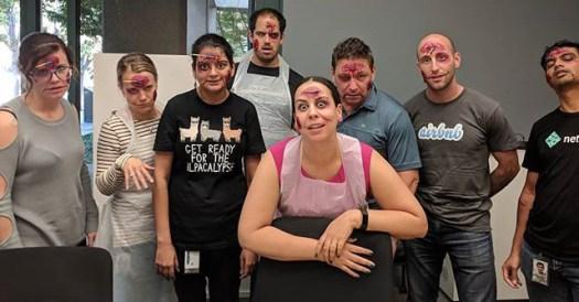 Google Halloween Zombie Makeup Class