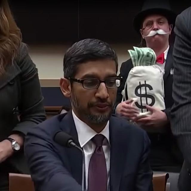 Monopoly Man Trolls Google's CEO, Sundar Pichai