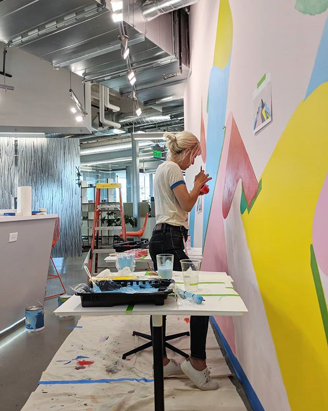 Mural Painting At Google Offices