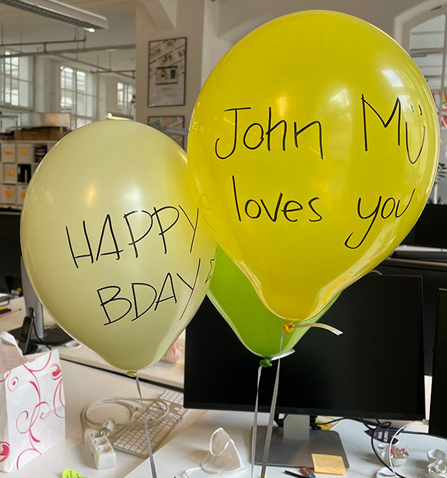 SEO Work Colleagues Birthday Balloons With JohnMu Loves You