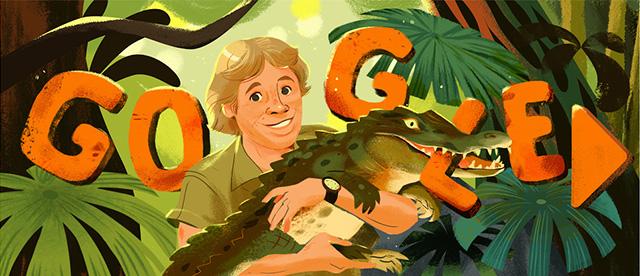 Steve Irwin Google Doodle