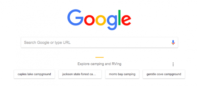 Chrome Testing Google Search Suggestions With Explore On