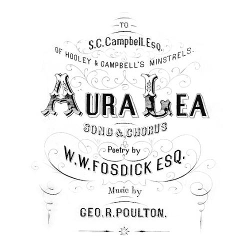 Aura Lee sheet music by George R. Poulton (Lyrics & Chords