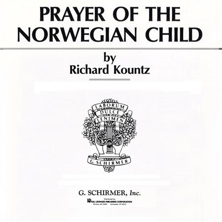 Prayer Of The Norwegian Child sheet music by Olaf