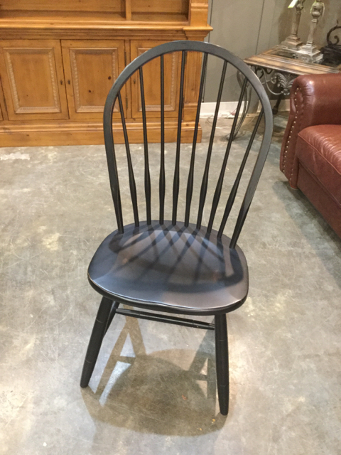 Ethan Allen Black Spindle Back Dining Chair Invio Fine