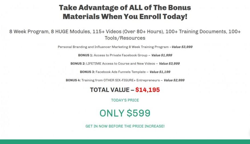 Cereal Entrepreneur Academy Personal Branding Course Price