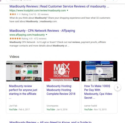maxbounty reviews