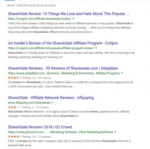 shareasale reviews