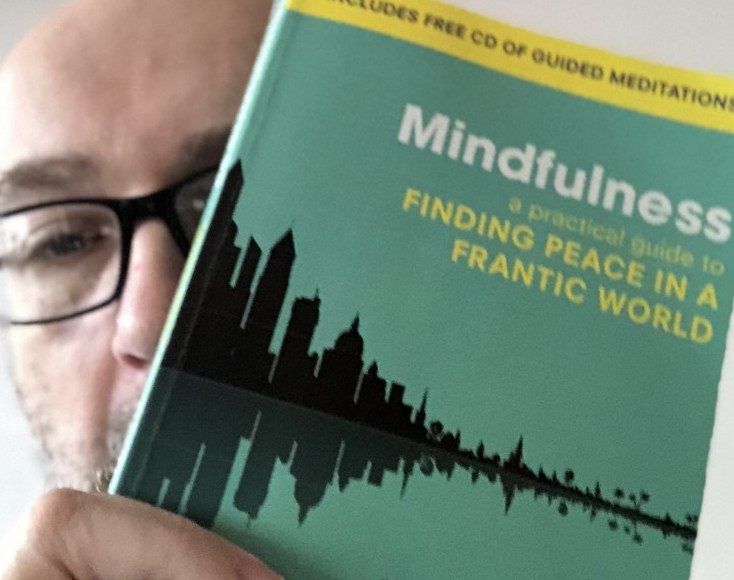 Darrin Holding Possibly The Best Mindfulness Book - Mindfulness: A practical guide to finding peace in a frantic world