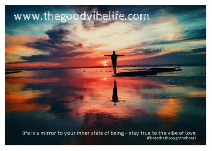 life is a mirror of your inner state of being