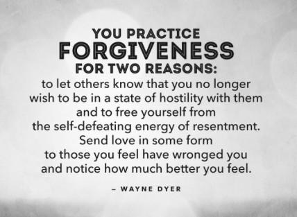 forgiveness yields inner peace