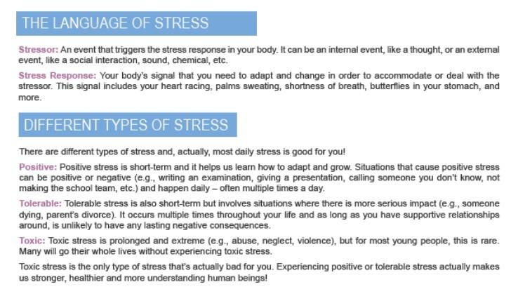 the language of stress