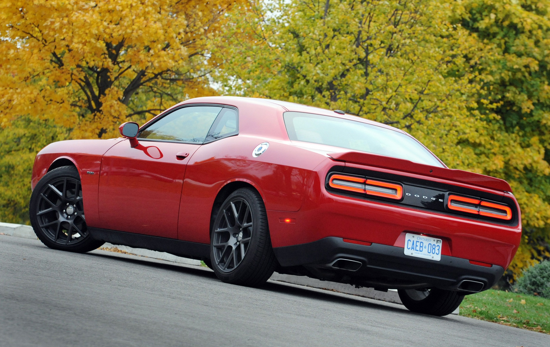 hight resolution of the dodge challenger r t catches your eye coming or going the styling lines paying tribute to heritage muscle car cues from the past