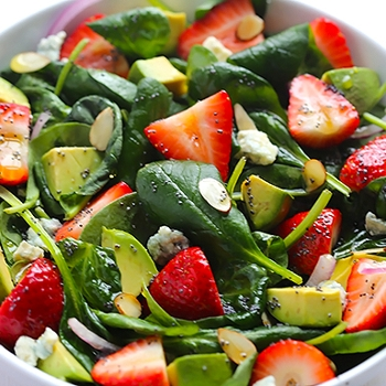 Image for Avocado Strawberry Spinach Salad with Poppy Seed Dressing