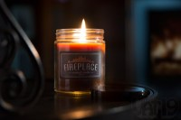 Fireplace Scented Jar Candle smells like a real wood ...